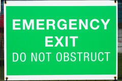 Emergency sign at exit door Royalty Free Stock Image