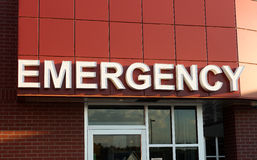 Emergency Sign Royalty Free Stock Photography