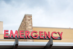 Emergency sign leading to the hospital Royalty Free Stock Photo
