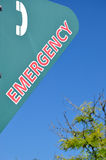 Emergency sign. With nature background royalty free stock photos