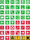 Emergency signs Stock Images