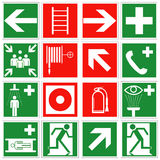 Emergency signs royalty free stock photo