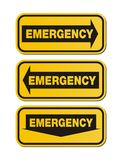 Emergency signs - yellow signs Royalty Free Stock Photos