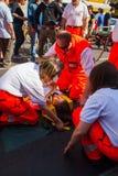 Emergency simulation Royalty Free Stock Photo