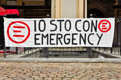 Emergency slogan Stock Images
