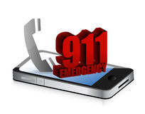 Emergency smartphone call Royalty Free Stock Image