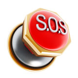 Emergency SOS button Stock Image