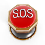 Emergency SOS button Stock Images