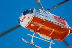 Emergency squad helicopter Stock Images