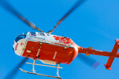 Emergency squad helicopter Royalty Free Stock Images