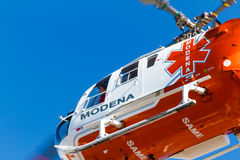 Emergency squad helicopter Stock Photos