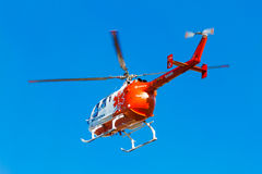 Emergency squad helicopter Stock Photo