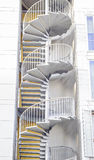 Emergency staircase. Spiral staircase. Stock Images