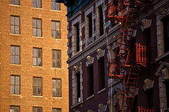 Emergency staircases in Manhattan, New York City Royalty Free Stock Photography