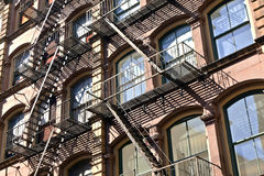 Emergency staircases in Manhattan, New York City Stock Photo