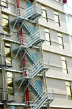 Emergency stairs. At the rear of a building Royalty Free Stock Photos