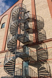 Emergency stairs Stock Photo