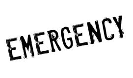 Emergency stamp rubber grunge Royalty Free Stock Images
