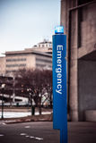 Emergency station on college campus for student safety Royalty Free Stock Photography