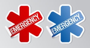 Emergency stickers. Stock Image