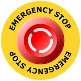 Emergency stop Stock Image