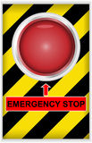 Emergency stop button. Vector illustration of emergency stop button Stock Photography