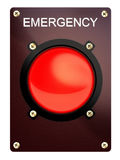 Emergency stop button. On a white background Royalty Free Stock Image