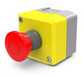 Emergency stop button Stock Image