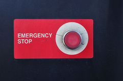 Emergency stop button of gasoline station for safety Royalty Free Stock Photography