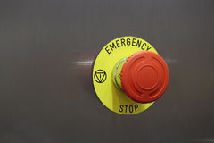 Emergency Stop. Button in the industry Royalty Free Stock Photo