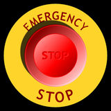 Emergency stop button Royalty Free Stock Images