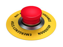 Emergency stop button. To interrupt industrial production Royalty Free Stock Photo