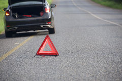 Emergency stop car on the road Stock Photography