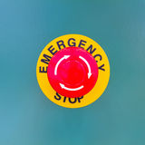 Emergency stop Stock Photography