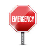 Emergency stop sign illustration design Royalty Free Stock Images