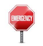 Emergency stop sign illustration design Royalty Free Stock Images