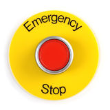 Emergency Stop Switch Stock Photography