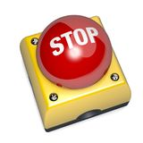 Emergency stop switch button 3D Illustration Stock Photos