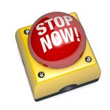 Emergency stop switch button 3D Illustration Stock Photo
