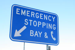 Emergency Stopping Bay Royalty Free Stock Images