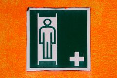 Emergency Stretcher Sign Stock Photos