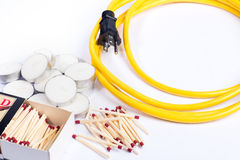 Emergency supplies for power outage Stock Photography