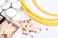 Emergency supplies for power outage Royalty Free Stock Photography