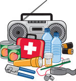 Emergency Survival Preparedness Kit Royalty Free Stock Image