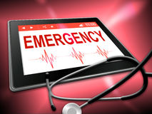 Emergency Tablet Indicates First Aid And Accident Royalty Free Stock Image