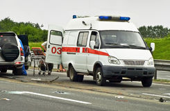 Ambulance van Stock Photo