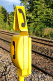 Emergency Telephone. By Railway Tracks Stock Photography