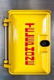 Emergency telephone box Stock Images