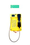 Emergency Telephone. Heavy duty waterproof telephone as used on a ship or perhaps factory Stock Images