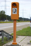 Emergency telephone. The photograph of a emergency telephone at the roadside of a highway Stock Photos